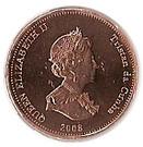 ½ Penny - Elizabeth II (4th portrait; St. Helena Dependency) – obverse