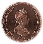 ½ Penny - Elizabeth II (4th portrait; St. Helena Dependency) – obverse