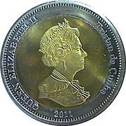 25 Pence - Elizabeth II (4th portrait; Nightingale Island) -  obverse
