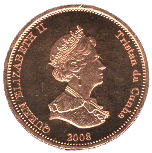 1 Penny - Elizabeth II (4th portrait; St. Helena Dependency) – obverse