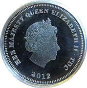 ½ Crown - Elizabeth II (Diamond Jubilee) – obverse