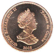 2 Pence - Elizabeth II (4th portrait; St. Helena Dependency) – obverse