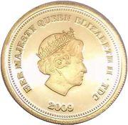 ½ Crown - Elizabeth II (Springbok - Fabula Aurum) – obverse
