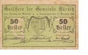 50 Heller (Türnitz) – obverse