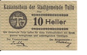 10 Heller (Tulln) – obverse