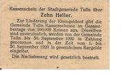 10 Heller (Tulln) – reverse