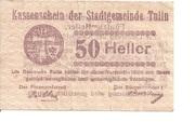 50 Heller (Tulln) – obverse