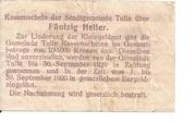 50 Heller (Tulln) – reverse