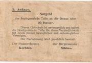 20 Heller (Tulln) – reverse