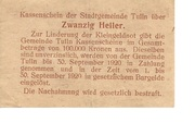20 Heller (Tulln) -  reverse