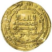 Dinar - Ahmad b. Tulun - 868-884 AD – obverse