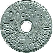20 Centimes - Muhammad VIII -  reverse