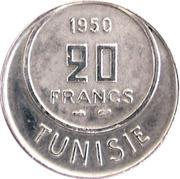 20 Francs - Muhammad VIII -  reverse