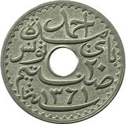 20 Centimes - Ahmad II -  obverse