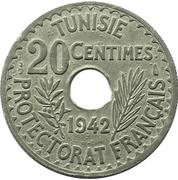 20 Centimes - Ahmad II -  reverse