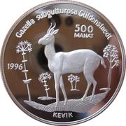 500 Manat (Gazelle) – reverse