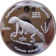500 Manat (Turkmen Gecko) – reverse