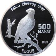 500 Manat (Saker Falcon) – reverse
