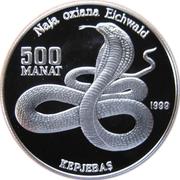500 Manat (Cobra) – reverse