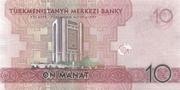 10 Manat -  reverse