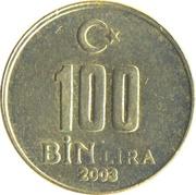 100 Bin Lira -  reverse