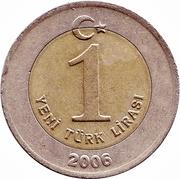 1 Yeni Lira -  reverse
