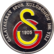 25 Yeni Lira (Galatasaray Sports Club) – reverse