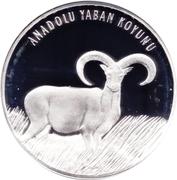 20 Yeni Lira (Anatolian Mouflon) -  reverse