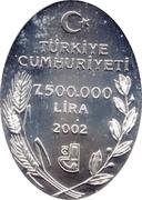 7 500 000 Lira (Iris pamphylica) -  obverse