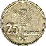 25 Kuruş -  reverse