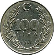 100 Lira -  reverse