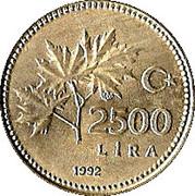 2500 Lira -  reverse
