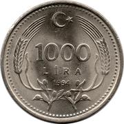 1000 Lira -  reverse