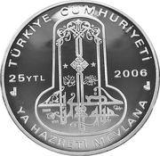 25 Yeni Lira (Hattat Hamid Aytaç) – obverse