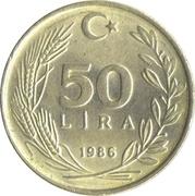 50 Lira -  reverse