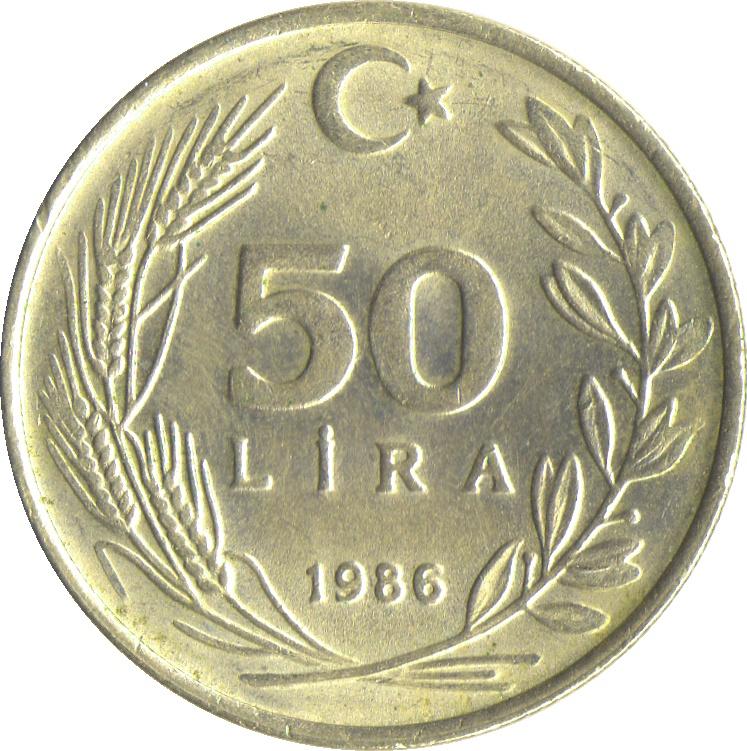 50 Lira Turkey Numista