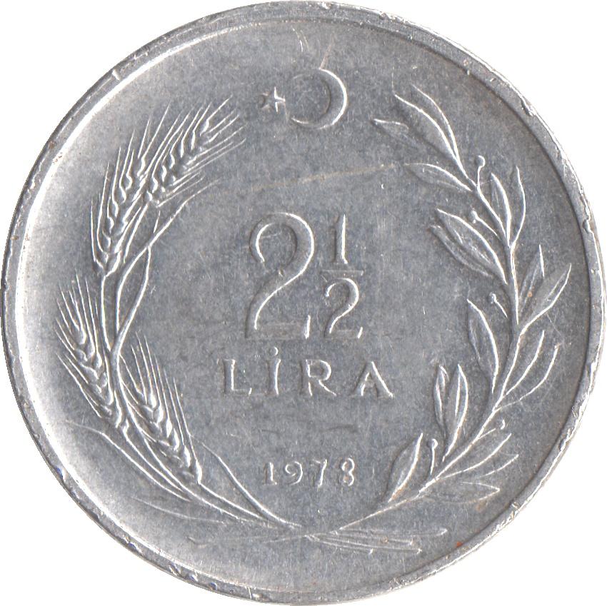 2½ Lira - Turkey – Numista