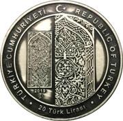 20 Lira (Ahlat Mezar Taşlari) – reverse