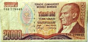 20,000 Turkish Lira – obverse