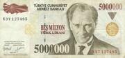 5,000,000 Lira – obverse