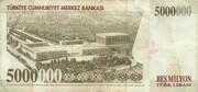 5,000,000 Lira – reverse