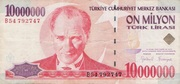 10 000 000 Lira Type – obverse