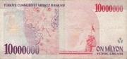 10 000 000 Lira Type – reverse