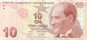 10 Turkish Lira – obverse