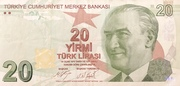 20 Lira – obverse