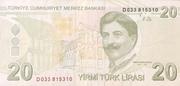 20 Lira – reverse