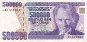 500 000 Lira – obverse