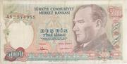 5 000 Lira – obverse