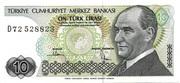 10 Lira -  obverse