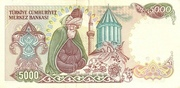 5 000 Lira – reverse